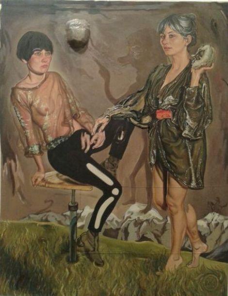 """Kati Heck """"Kompass (Gipfeltreff auf der Schamgrenze)"""", 2013-2014"""
